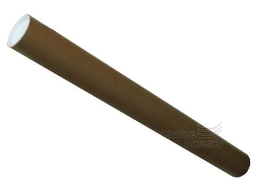 Tubus kartonový 750*70*3mm, 2ks uzavíracích víček