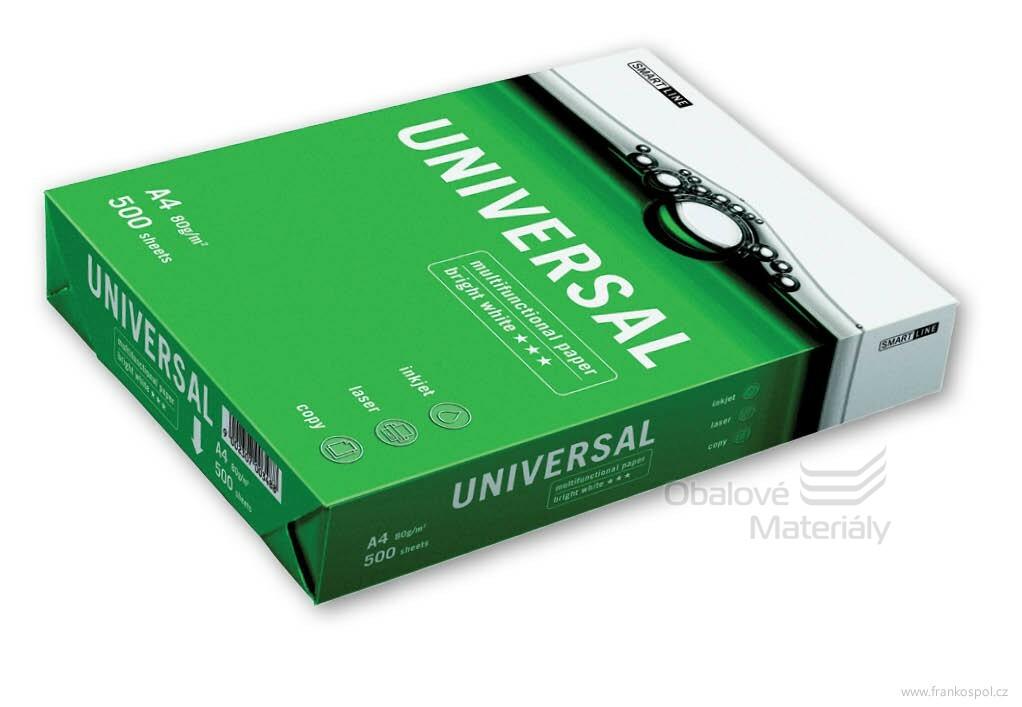 """Kancelářský papír UNIVERSAL Paper A4 80g - 500 listů """"B"""" bílý"""