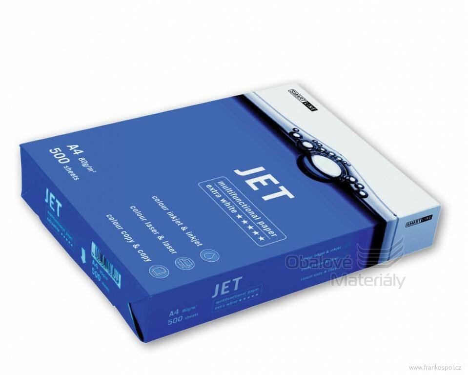 """Kancelářský papír JET Paper A4 80g - 500 listů """"A"""" bílý"""