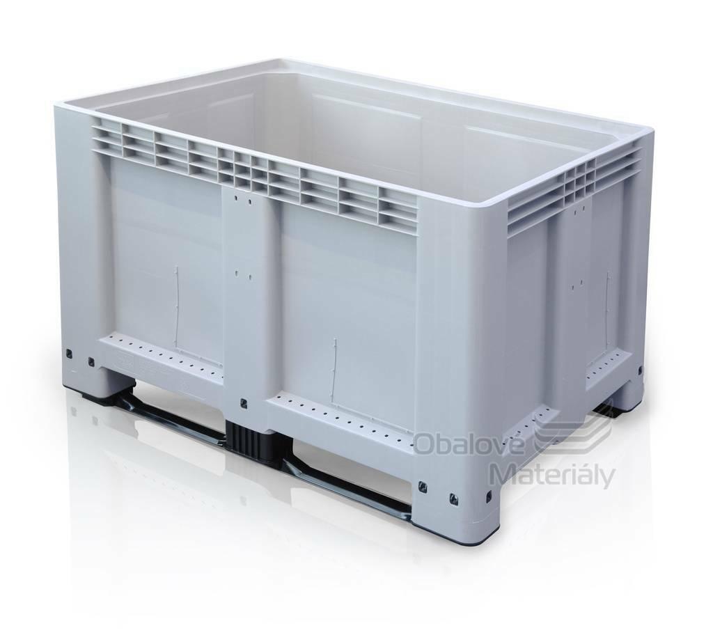 Plastový bigbox 1200*800*800 mm, 2 ližiny
