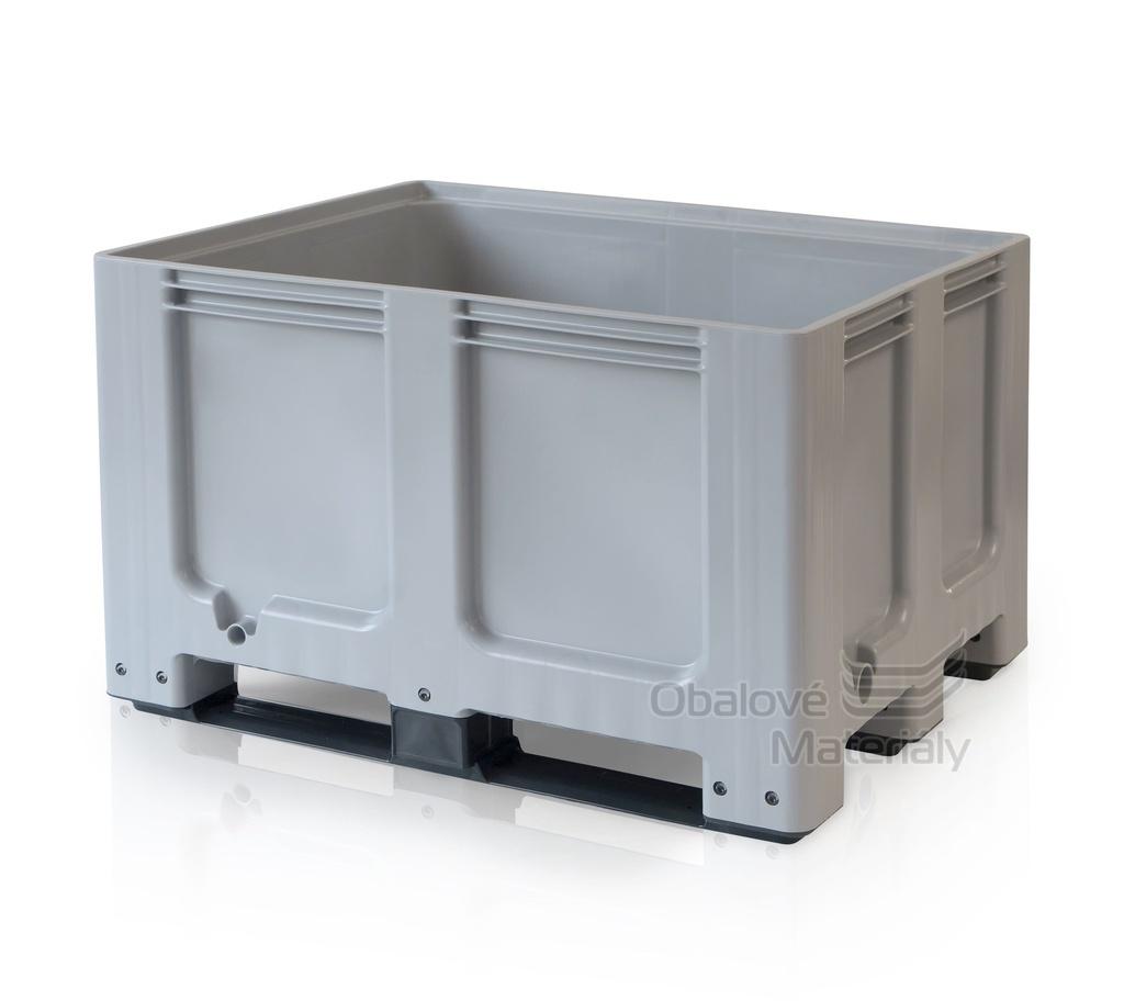 Plastový bigbox 1200*1000*760 mm, 3 ližiny