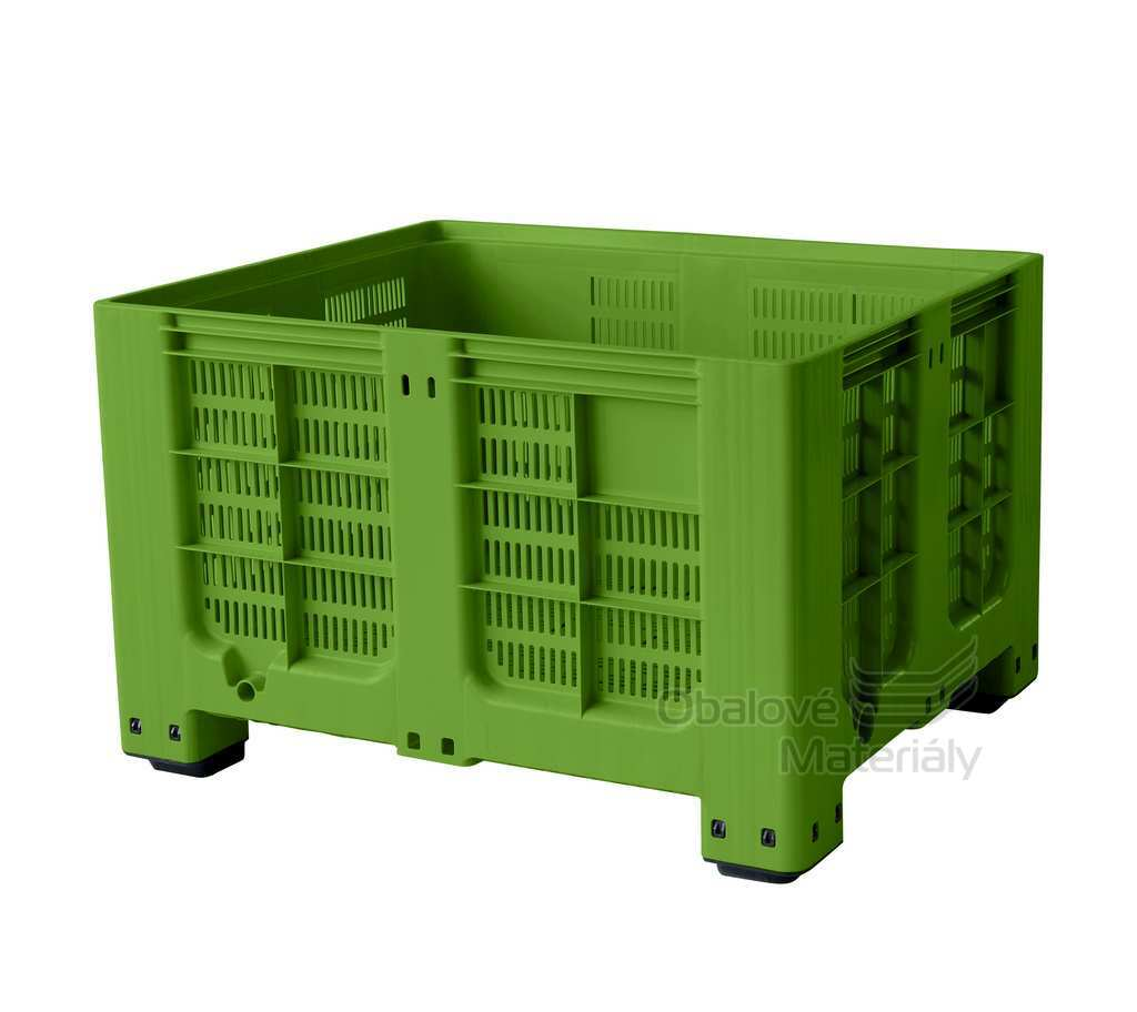 Plastový bigbox děrovaný 1200*1000*785 mm, 4 nohy