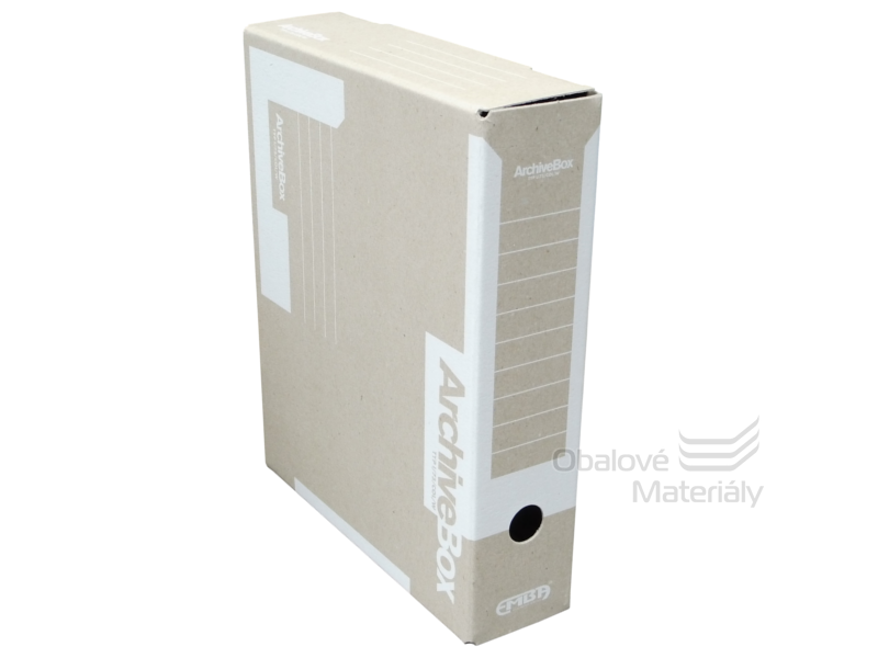 Archiv box A4 75mm - bílý