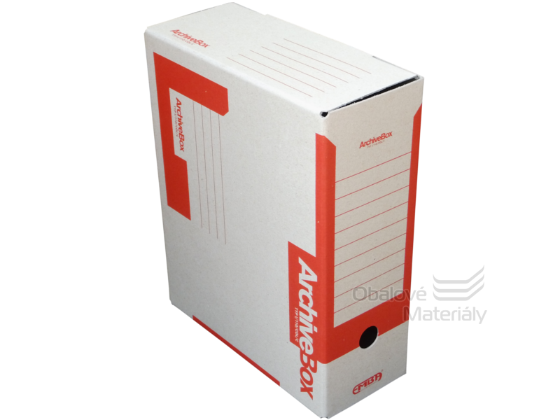 Archiv box A4 110mm - červený