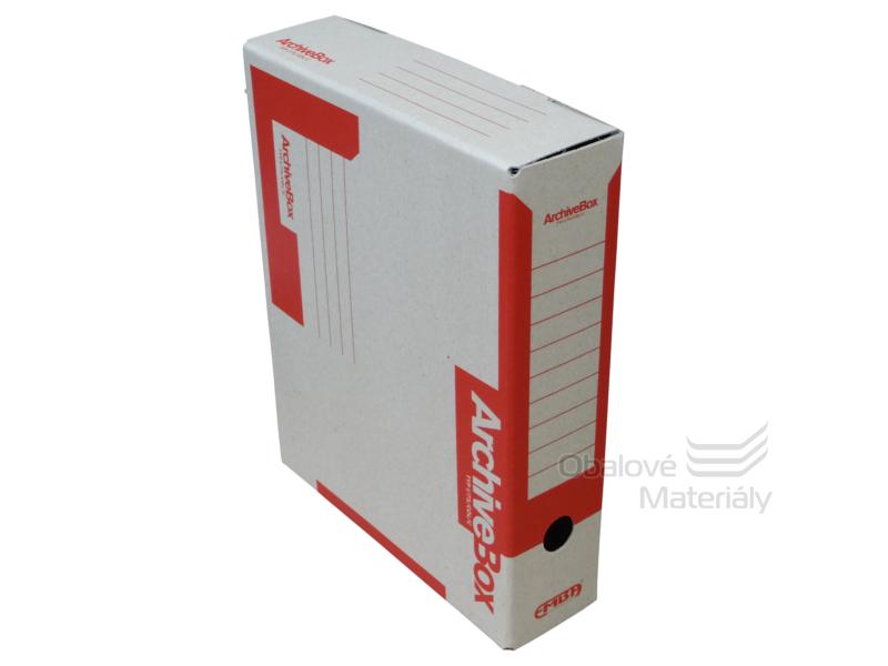 Archiv box A4 75mm - červený
