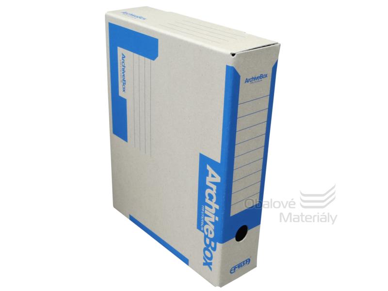 Archiv box A4 75mm - modrý