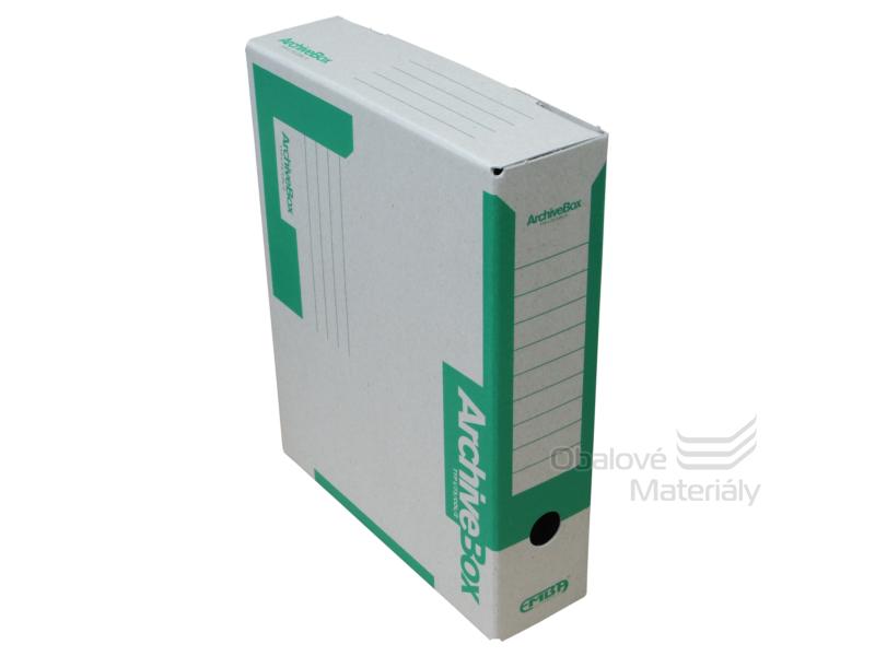 Archiv box A4 75mm - zelený