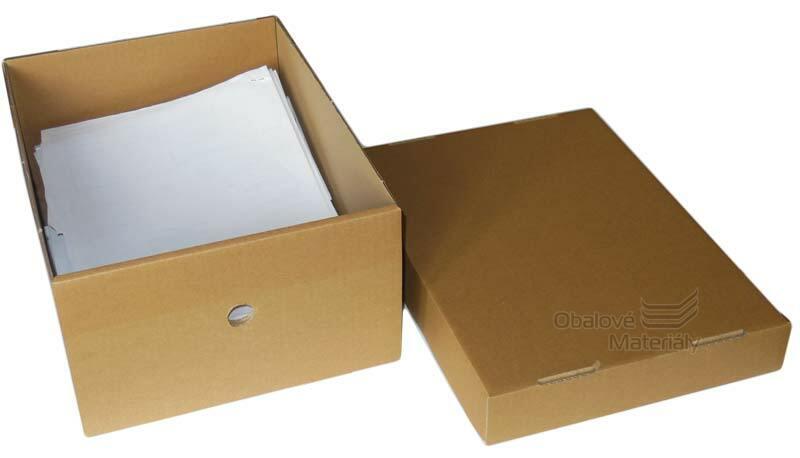 Archivační krabice s víkem 327*250*150/050mm, formát A4