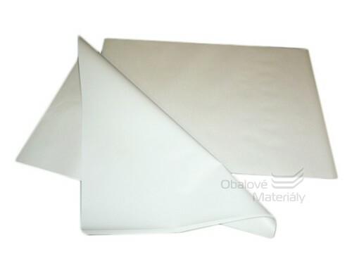 Balící papír s PE nástřikem 30*50 cm, bílý, balení 10 kg