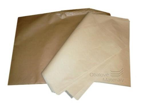Balící papír pergamenová náhrada 70*100 cm, hnědý, balení 10 kg