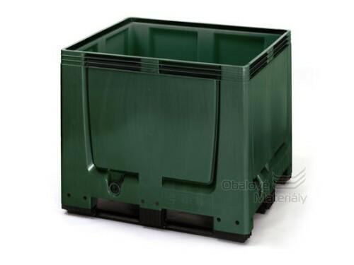 Plastový mega bigbox 1200*1000*1000 mm, 3 ližiny