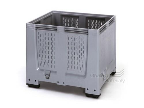 Plastový mega bigbox děrovaný 1200*1000*1000 mm, 4 nohy