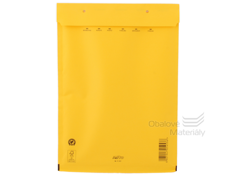 Bublinková obálka D14 EXTRA, 180*265 mm - žlutá