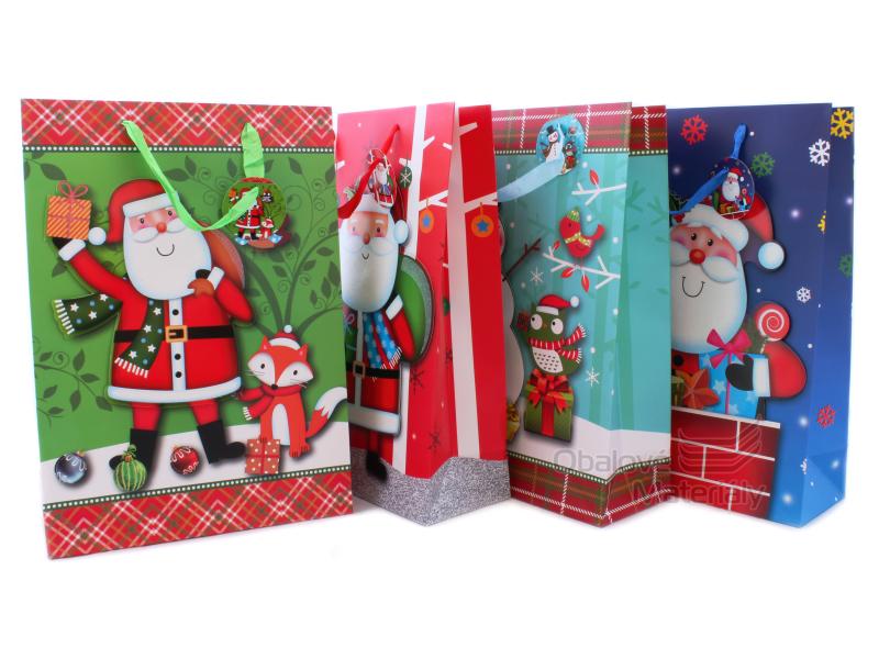 Dárková taška vánoční 42*30*12 cm, různé motivy