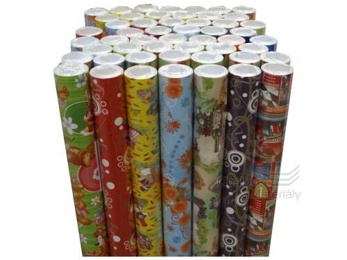 Dárkový balící papír, mix motivů 70*200 cm