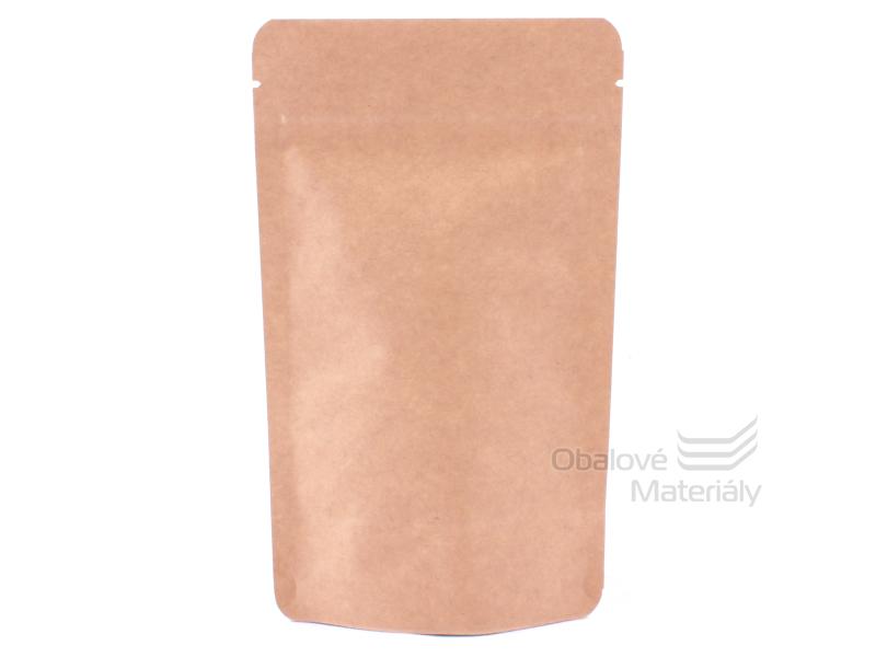 Doypack sáček 180*290 mm, 1000 ml, 3-vrstvý, KRAFT/AL/CPP - 100 ks
