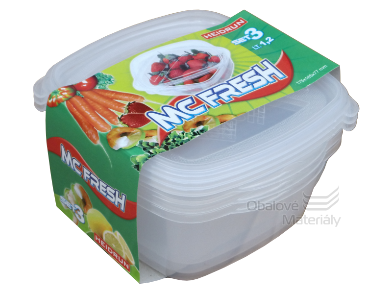 Dóza na potraviny MC FRESH SET 3 ks, 1,2 l, 175*165*80 mm