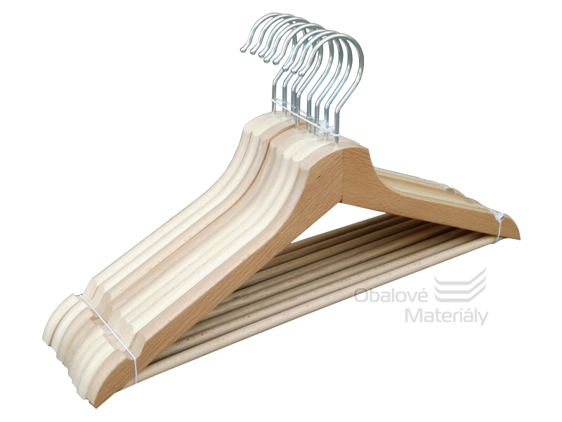 Dřevěná ramínka 45 cm, 8 ks