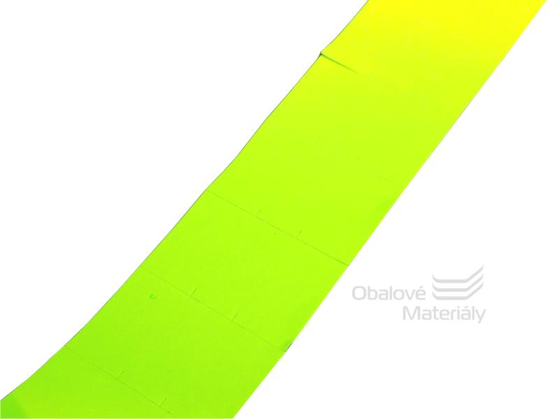 Cenové etikety REFLEXNÍ ŽLUTÉ pro dvouřádkové kleště 10/10 míst 25*16 mm