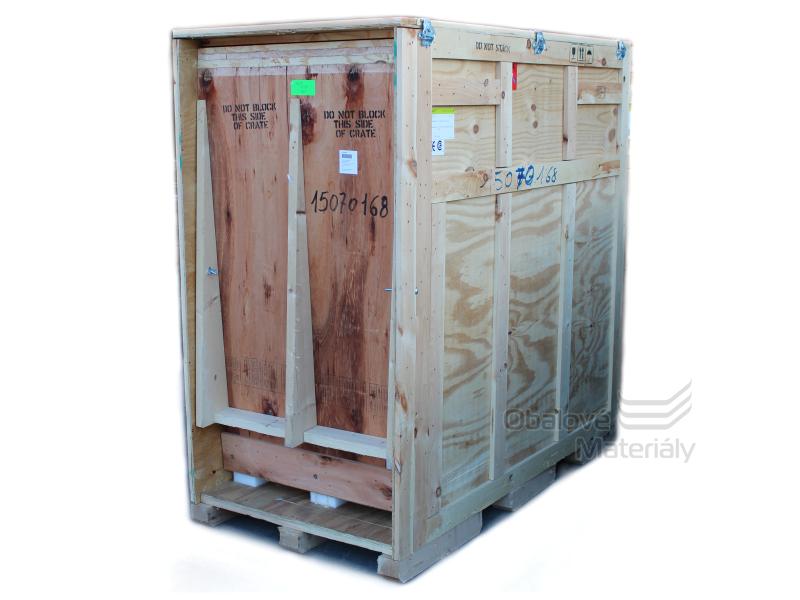 Použitá dřevěná exportní bedna 188*185*96 cm