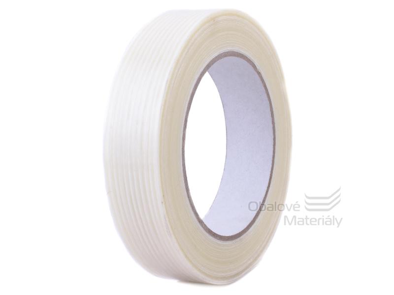 Lepící páska s podélnými skelnými vlákny 25mm*50m filamentní