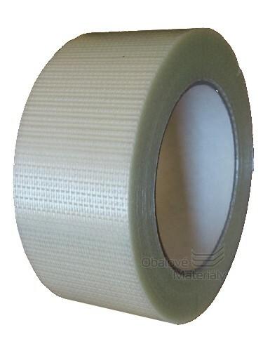 Lepící páska s kříženými skelnými vlákny 50 mm*50 m filamentní