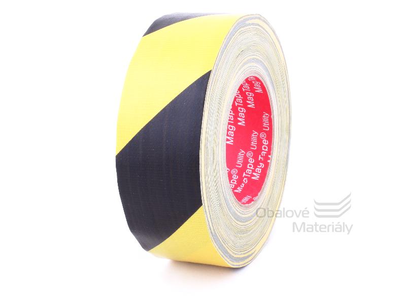 Universální lepící páska 50 mm*50 m, žlutočerná POLOMATNÁ top kvalita