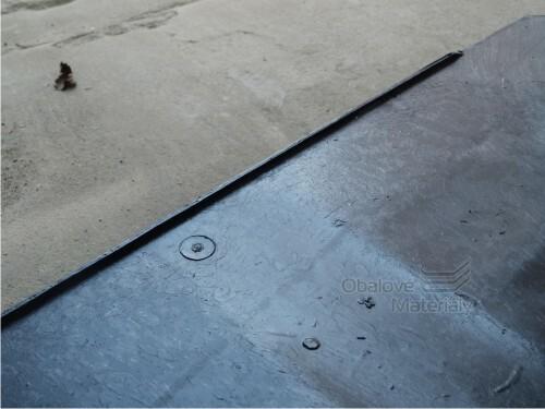 Paleta plastová hladká, 1200*800*150 mm, barva černá