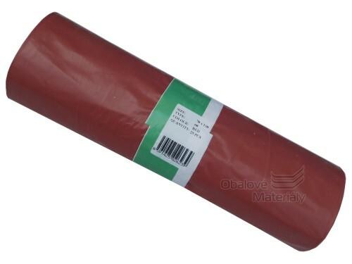 Plastové pytle 70*110 cm, typ 100, nosnost 25 kg, balení 15 ks - ČERVENÉ