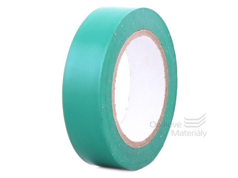 Izolační PVC páska 15 mm * 10 m, zelená