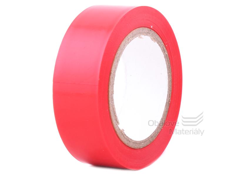 Izolační PVC páska 19 mm * 10 m, červená