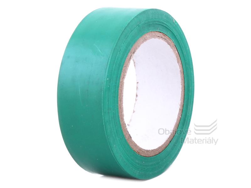 Izolační PVC páska 19 mm * 10 m, zelená