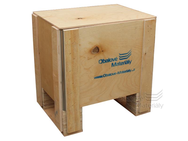 Dřevěný box S1 - 408*308*412mm, skládací bedna s ližinou, překližka