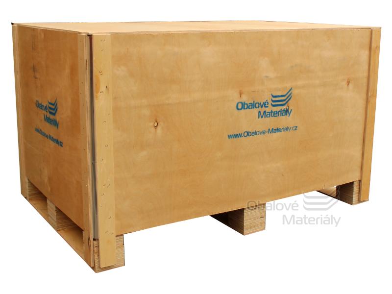 Dřevěný box S5 - 1208*808*712mm, skládací bedna s ližinou, překližka