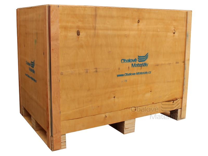 Dřevěný box S6 - 1208*808*912mm, skládací bedna s ližinou, překližka