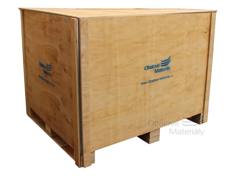Dřevěný box S7 - 1208*1008*912mm, skládací bedna s ližinou, překližka