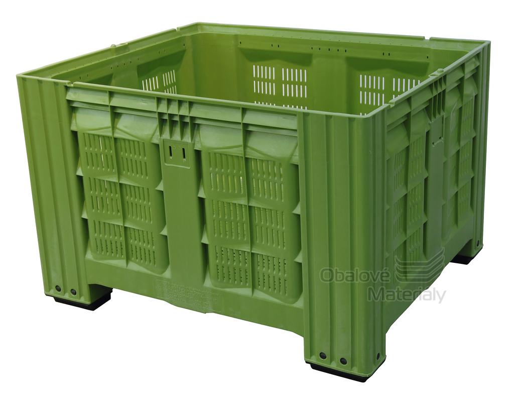 Plastový bigbox děrovaný 1200*800*785 mm, 4 nohy
