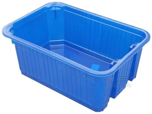 Plastový košík plný, stohovatelný, 300*210*120 mm