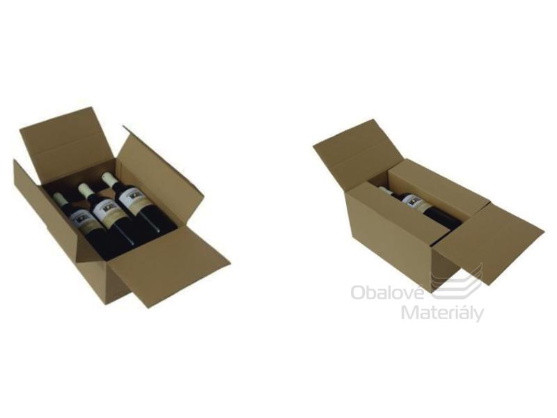 Krabice na víno - 6 lahví 315*232*165 mm s proložkou
