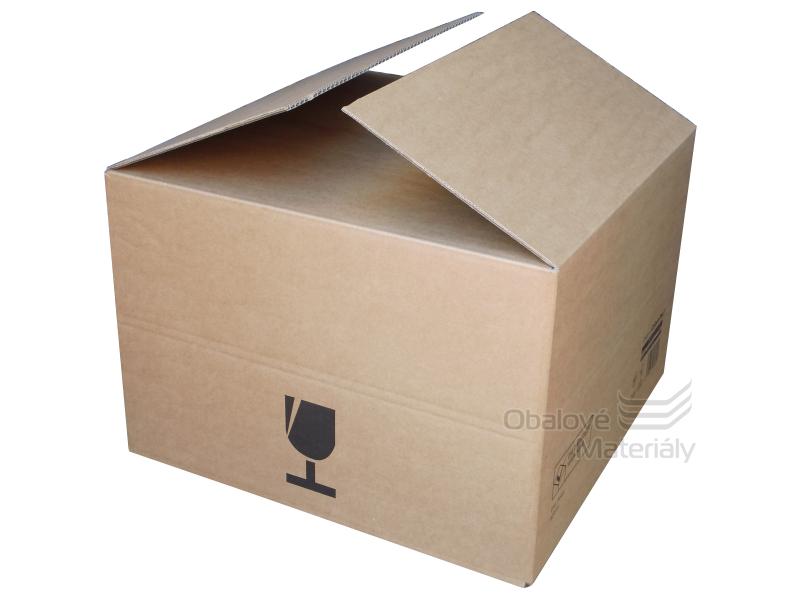 Přepravní krabice na víno 5-vrstvá 375*365*250 mm, pro 3 nebo 6 láhví