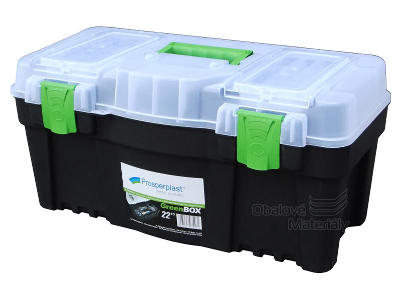 """Plastový kufr na nářadí 22"""" - GREEN BOX"""