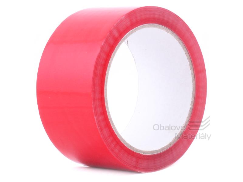 Lepící páska TICHÁ, červená, 48 mm*66 m