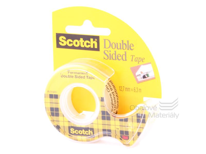 3M Scotch oboustranná lepící páska 12,7 mm * 6,3 m s odvíječem