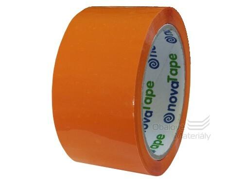 Barevná lepící páska 48 mm*66 m oranžová