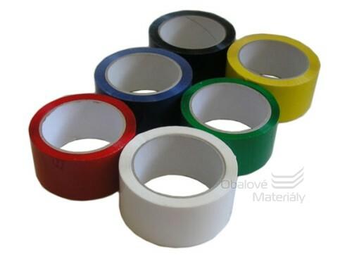 Barevné lepící pásky 48 mm*66 m - černá, žlutá, modrá, zelená, červená, bílá