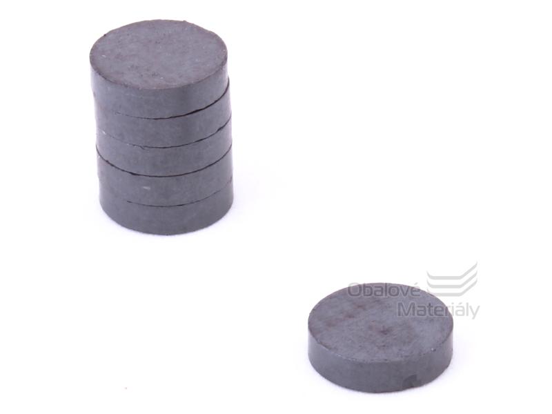 Magnet kulatý ferit 10ks,průměr20mm / tl. 5 mm - černý