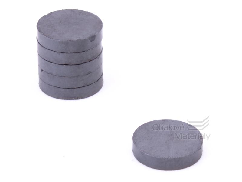 Magnet kulatý ferit 10ks,průměr25mm / tl. 5 mm - černý