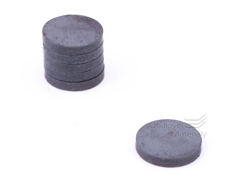 Magnet kulatý ferit 10ks,průměr30mm / tl. 5 mm - černý