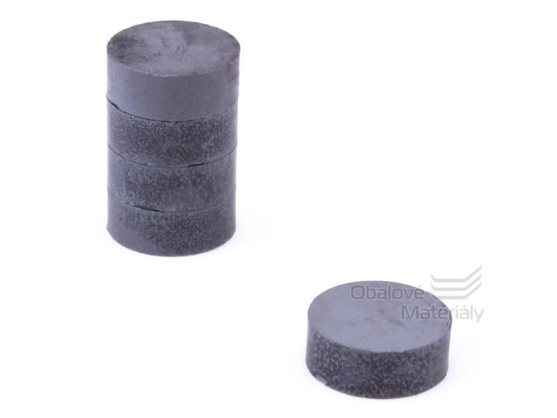 Magnet kulatý ferit 10ks,průměr 27 mm / tl. 10 mm - černý
