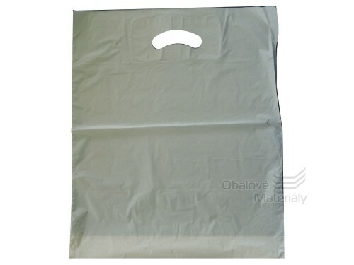 Taška MDPE 38*45+5 cm s průhmatem, bílá, cena za 1 kus